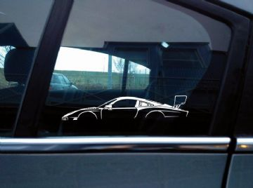 2x Race Car Silhouette stickers - Porsche 935 ( 2019 ) modern